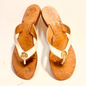 Tory Burch Logo Buckle Flip Flop Thongs Sandals
